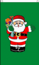 SANTA WITH GIFTS - 5X3 FLAG